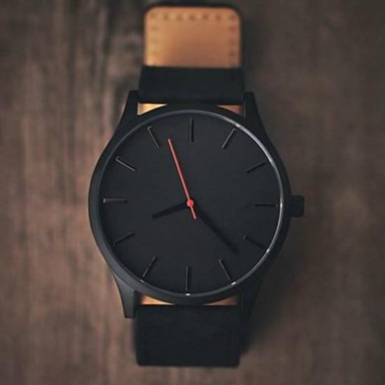 reloj 2018 fashion large dial military quartz men watch leather sport watches high quality clock