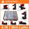 6 em 1 Mini torno,A Perfuração, Torneamento de madeira, Jag Saw e lixadeira, Mini combinado máquina, Ferramenta DIY