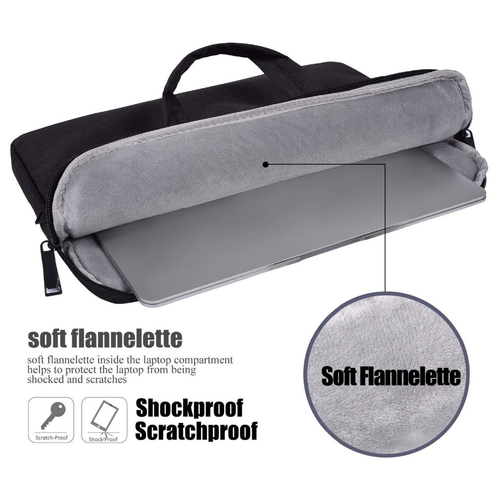 Image 5 - Laptop Bag Sleeve 13 13.3 14 14.1 15 15.4 15.6 Inch Notebook Bag For Macbook Air Pro 13 15 Dell Asus HP Acer Briefcase Handbag-in Laptop Bags & Cases from Computer & Office