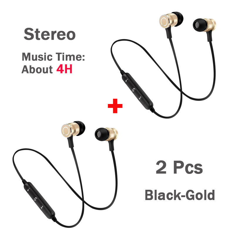 2Pcs Black-Gold