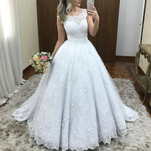 SexeMara Wedding Dress Sleeveless Bridal Gowns