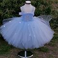 Princess tutu elsa tutu vestido de comprimento no tornozelo com flocos de neve de primavera do bebê do aniversário da menina vestidos de festa à noite com as estrelas xale