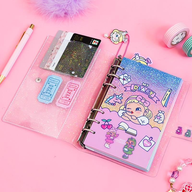 Kawaii DIY Agendas Notebook A6 Binder Korean Spiral Diary Planner Organizer Note Book Girls Fichario Traveller Journal Sketcbook