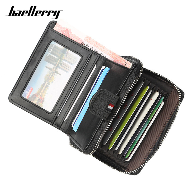 Baellerry Many Departments Men Wallet With Zipper Extendable Credit Card Holder Brand Designer Small Wallet Male High QualityBaellerry Many Departments Men Wallet With Zipper Extendable Credit Card Holder Brand Designer Small Wallet Male High Quality