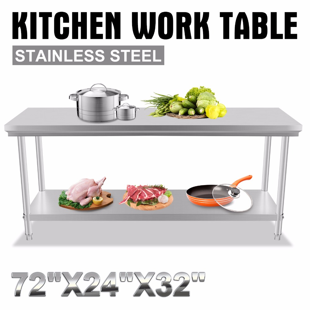 Stainless Steel Commercial font b Kitchen b font font b Work b font Food Prep font
