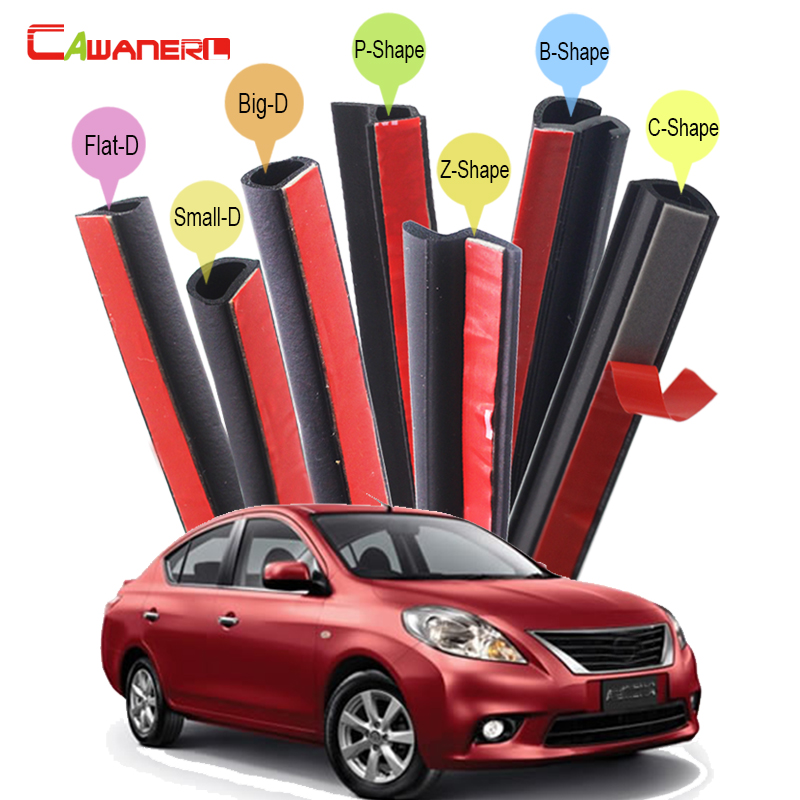 Cawanerl Car Sealing Strip Kit Weatherstrip Rubber Seal Edging Trim Anti Noise For Nissan Almera March Micra Note Pixo Platina cawanerl whole car seal sealing strip kit sound insulation seal edging trim rubber weatherstrip for lincoln continental ls mks