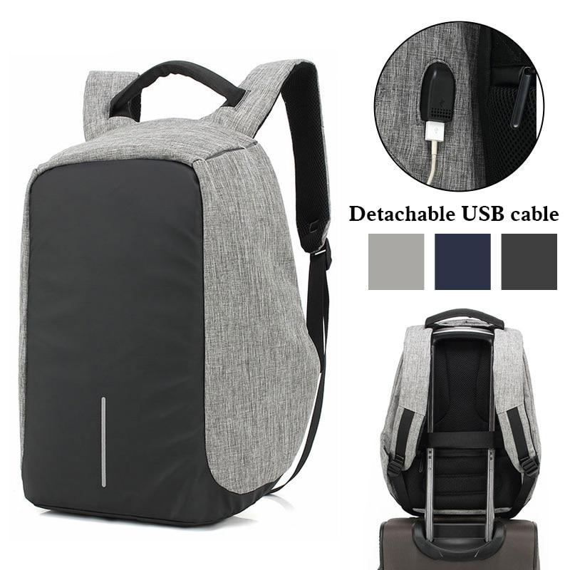 Unisex USB Charge Anti Theft Backpack Men Travel bag For Macbook Air Pro Retina 13.3 15.4 Laptop Shockproof School Bags Rucksack