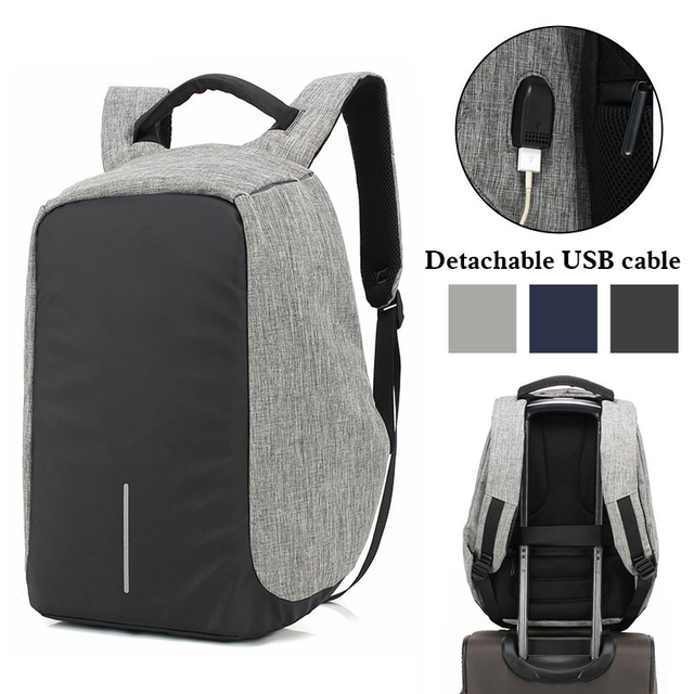 Unisex USB Charge Anti Theft Backpack Men Travel bag For Macbook Air Pro  Retina 13.3 15.4 Laptop Shockproof School Bags Rucksack 70ce809cfce20