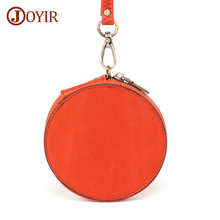 JOYIR Genuine Leather Coin Purses Women Small Change Purse Mini Zipper Wallet Money Pocket Card Holder Key Pouch Storage Bag стоимость
