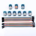 Kits de sensores MQ2 MQ3 MQ4 MQ5 MQ6 MQ7 MQ8 MQ9 MQ135 Kit Diy para ARDUINO con Jumper Cables