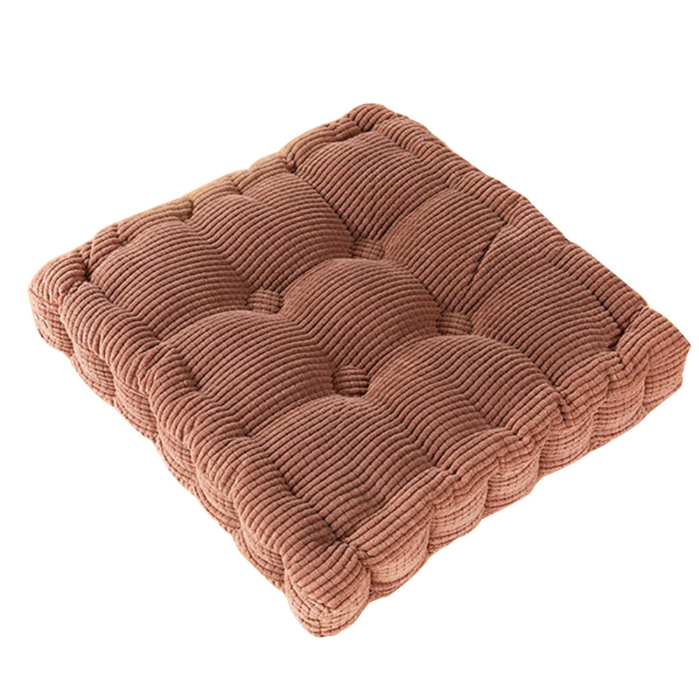 Office Chair Cushion Pads Corduroy Chair Mat Square Seat
