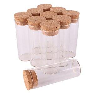 Image 4 - 24 adet 30 ml boyutu 27*70mm test tüpü Mantar Tıpa ile Baharat Şişeleri saklama kavanozları Şişeler DIY Zanaat