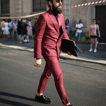 Latest Wedding Men's Suit Slim Edition 2 Groom Tuxedos Double Breasted Men's Suits Best Man's Business Suit
