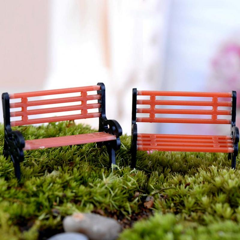Tremendous Us 0 81 Garden Miniature Fairy Chair Bonsai Small Park Bench Ornament Decorations Potted Plant Diy Craft Dollhouse Decorative Minatures In Figurines Squirreltailoven Fun Painted Chair Ideas Images Squirreltailovenorg