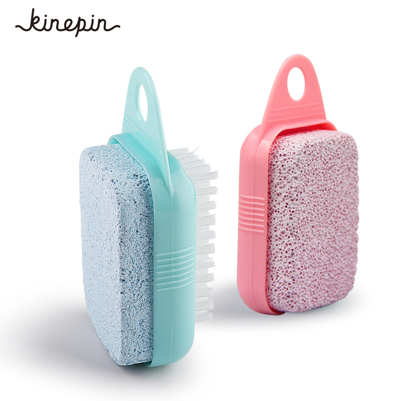 1Pc Dual-use Foot Care Callus Brush Pumice Grinding Feet Stone Scrubber Pedicure Exfoliate Remover Cleaning Dust Dead Skin