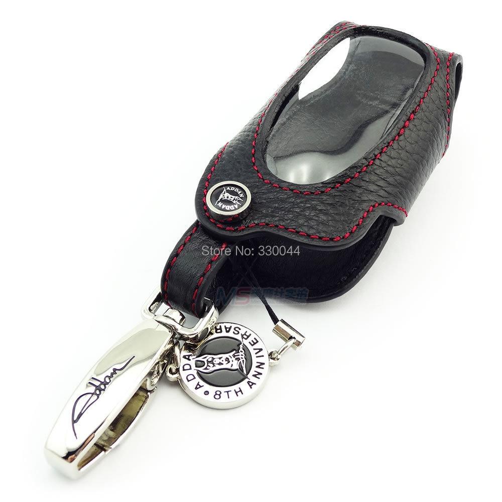 Nueva llegada ADDAN Genuine Leather Car Key Fob Cover para TOYOTA - Accesorios de interior de coche