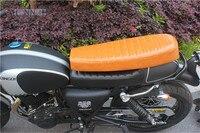 Orange Motorcycle Seat Universal Cafe Racer Seat Hump Mash Racer Seat Retro Locomotive Cushion Sima Motorcycle