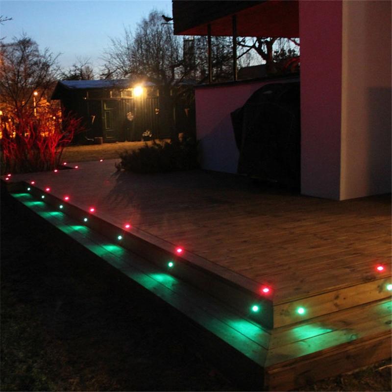 led exterior solar suelo passo luz lâmpada de parede luz