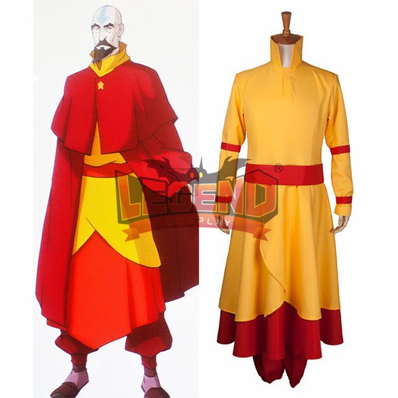 The Legend of Korra Tenzin Cosplay Costume Adult Halloween Custom Made outfit with red cape