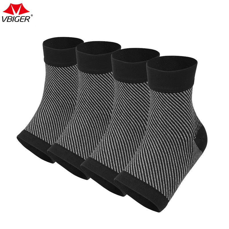 Vbiger Ankle Support Brace Foot Sleeve Unisex Plantar Fasciitis Socks with Arch Support Relieve Foot Swelling 2Pairs