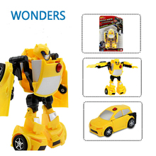 Hot Sale Super Hero Toys Transformation Robots Action Cars Robot Kit 3C Plastic Kids Toys For