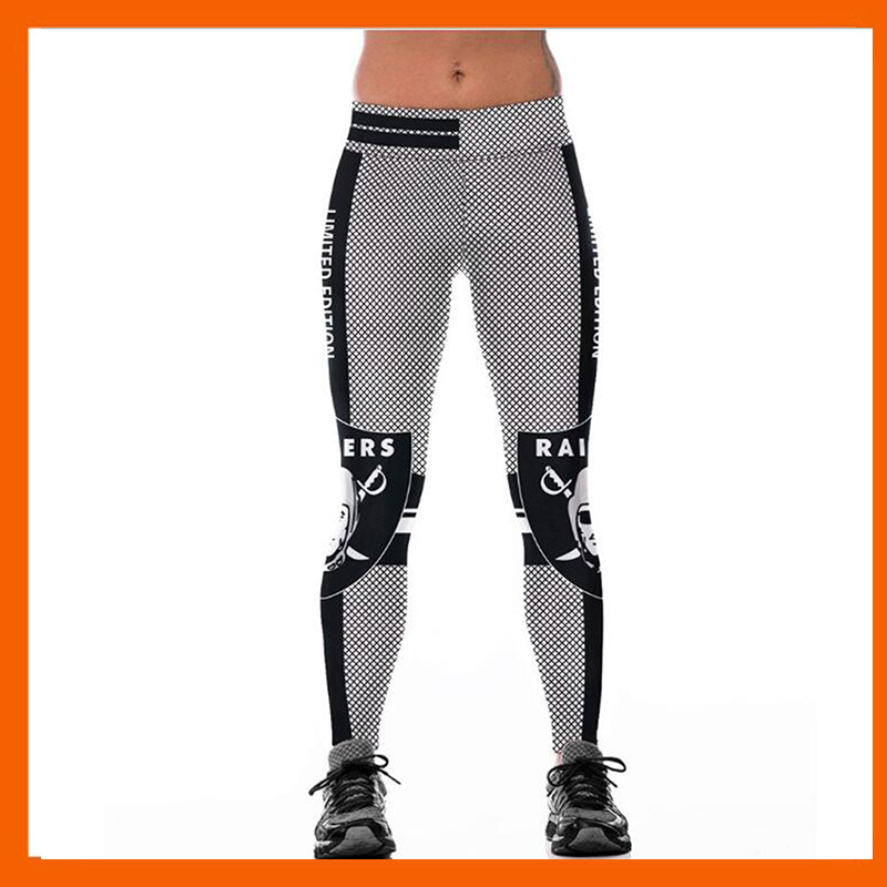 OAKLAND RAIDER S 3D PRINT WOMEN LEGGINGS HIGH WAIST LEGGING STEELERS PRINTED WOMEN PANTS ...