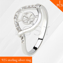 925 sterling silver ring mounting with Eye design bar LGSY size 6/7/8 pearls rings accessories jewelry