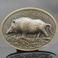 New Fashion Western Antique Gold Wild Boar Pig Animal Hunt Tractor Farm Belt Buckle Men Gift