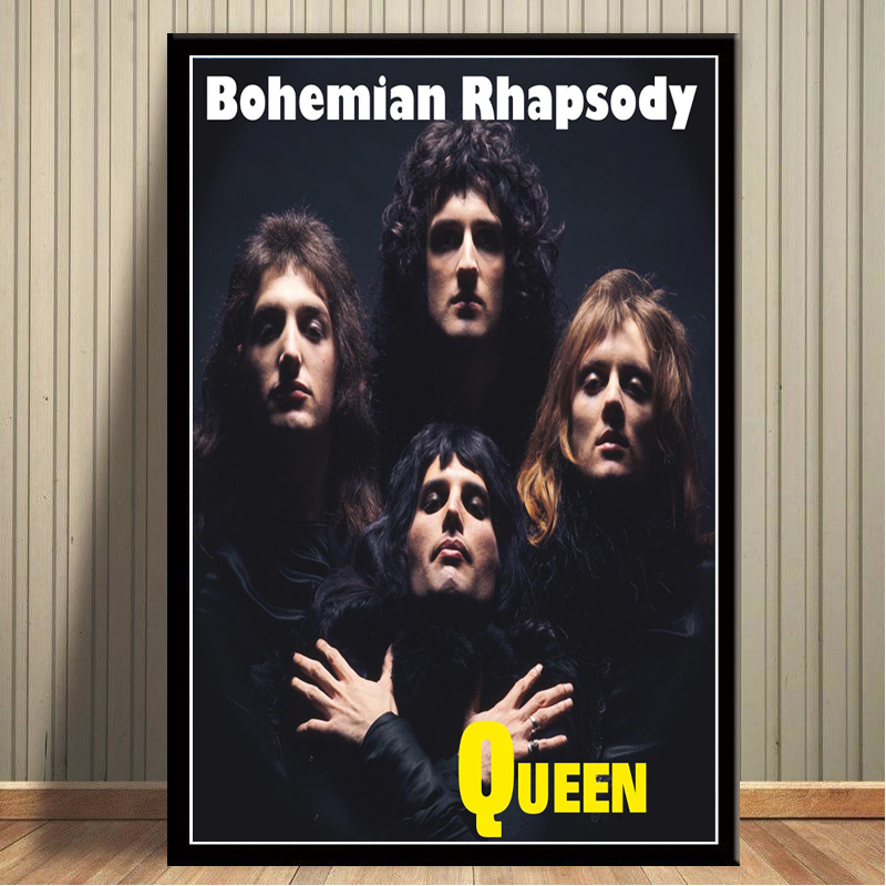 Freddie Mercury 11 Lyrics Photo Queen Rock Band Picture Vintage Music Poster