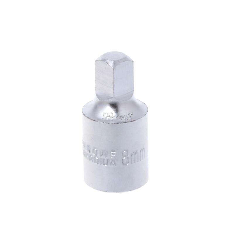 8mm Square Oil Sump Drain Plug Key Tool Remover For Renault Citroen Peugeot June DropShip
