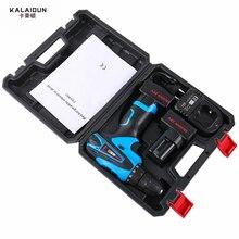 KALAIDUN 25 V Bohrmaschine Elektrowerkzeuge Elektrische Schraubendreher Lithium 2 * Batterie Schnurlose Schlagbohrmaschine Mit Extra Toolbox