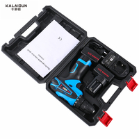 KALAIDUN 25V Electric Drill Power Tools Electric Screwdriver Lithium 2 Battery Cordless Impact Drill With Extra