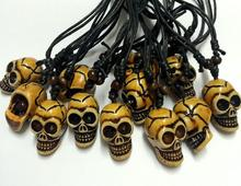 FREE SHIPPING 12 pcs Skull Necklace Gothic Punk Men Boyfriend & Girlfriend Jewelry Gift