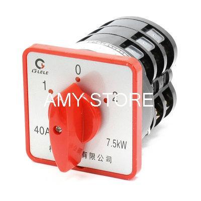 цена на AC 380V 40A 7.5KW Locking 12 Screw Terminals Cam Combination Changeover Switch