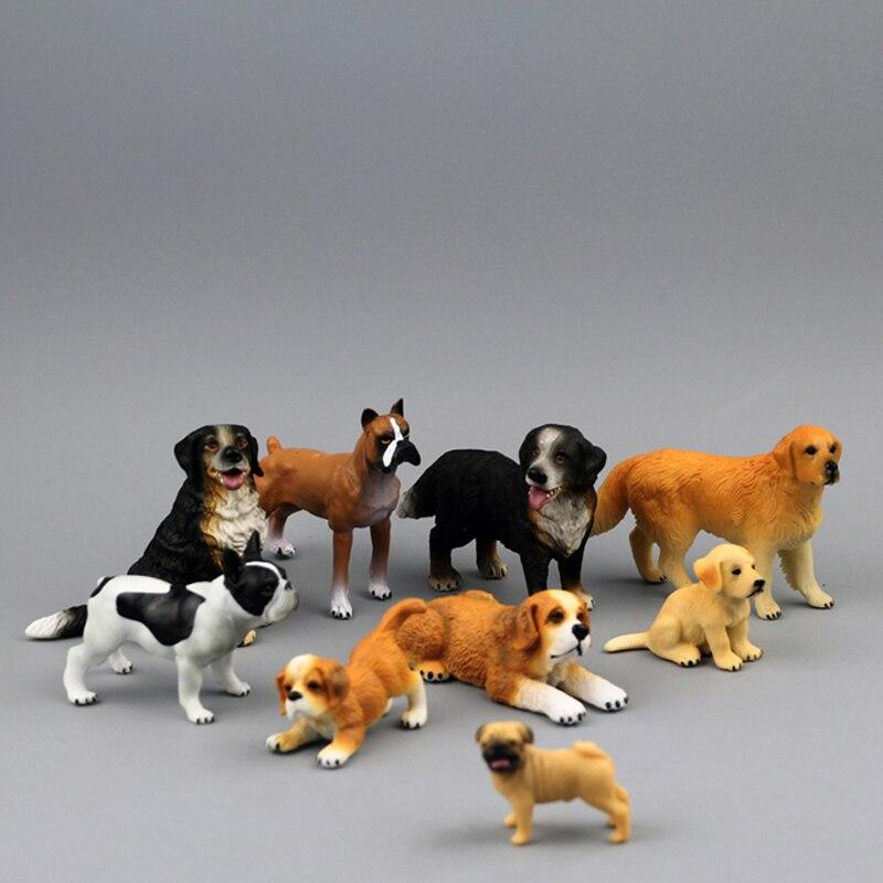 Free Shipping Good Quality Low Price Child animal model golden retriever dogs saint bernard boxer toy model