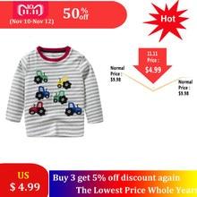 68f788782 SAILEROAD Cartoon Tractors Children Boys T Shirt 1-7Years Cotton Child Baby  Boys Girls Tops