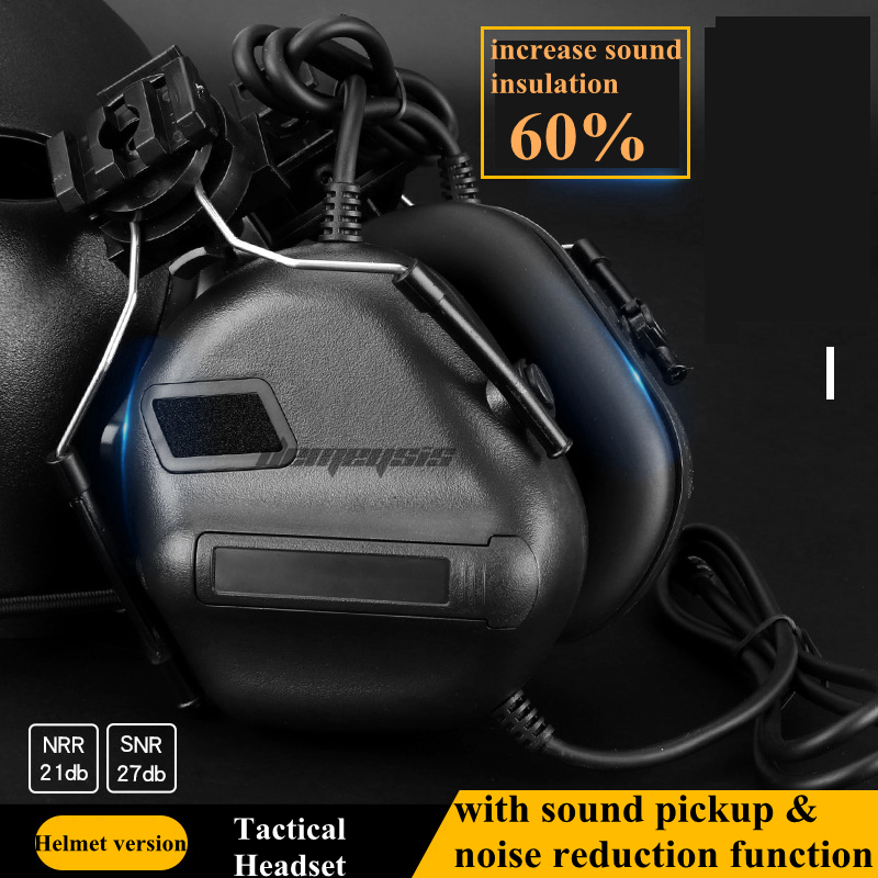 Anti-noise Military Shooting Headsets Tactical Hearing Protect Headset Sound Pickup CS Wargame Headphone Hunting AccessoriesAnti-noise Military Shooting Headsets Tactical Hearing Protect Headset Sound Pickup CS Wargame Headphone Hunting Accessories