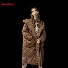 Верхняя одежда, женские пальто, теплые женские парки, Утепленные зимние куртки с капюшоном, женские пальто, Повседневная Длинная парка для женщин, большие размеры