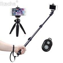 4 en 1 selfie stick trípode para + mini trípode + Bluetooth Control remoto auto-temporizador obturador de la cámara para el iPhone para Samsung S6 S5 S4