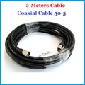 5 Meters Black Color 50ohm 50-5 Ultra Low Loss Coaxial Cable for Connecting Cell Phone Signal Booster to Splitter