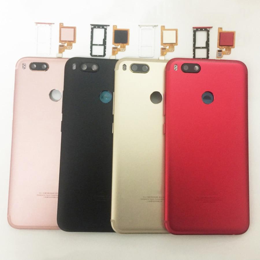 Original For Xiaomi Mi A1 5X MiA1 Mi5X Battery Cover Housing Back Door Housing + fingerprint sensor flex cable + +Sim TrayMobile Phone Housings & Frames   -