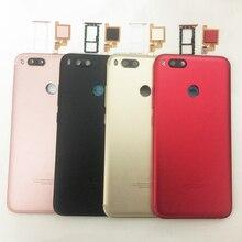 Original For Xiaomi Mi A1 5X MiA1 Mi5X Battery Cover Housing Back Door Housing + fingerprint sensor flex cable + +Sim Tray
