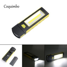 Super Bright Adjustable COB LED Work Flashlight Inspection Lamp Hand Torch Magnetic Camping Tent Lantern With Hook Magnet