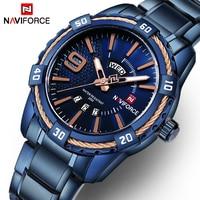 NAVIFORCE Watches Men Luxury Brand Sport Full Steel Quartz Wristwatches Men S Waterproof Military Watches Relogio