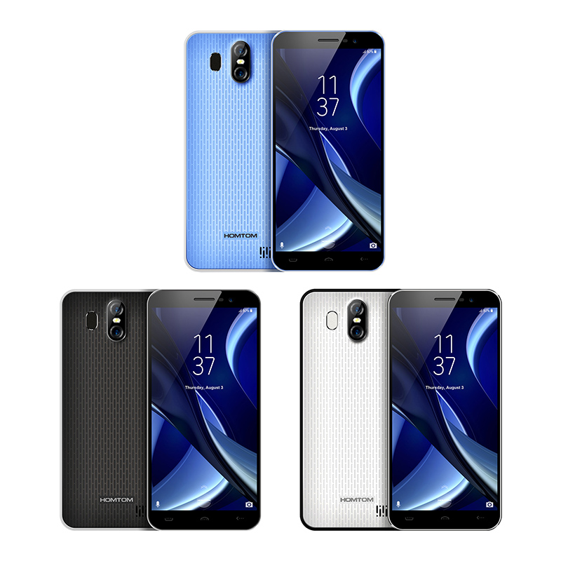 Image 3 - Original HOMTOM S16 Fingerprint Mobile Phone Android 7.0 5.5inch Screen 2G RAM 16G ROM 13MP MTK6580 Quad Core 3000mAh Smartphone-in Cellphones from Cellphones & Telecommunications