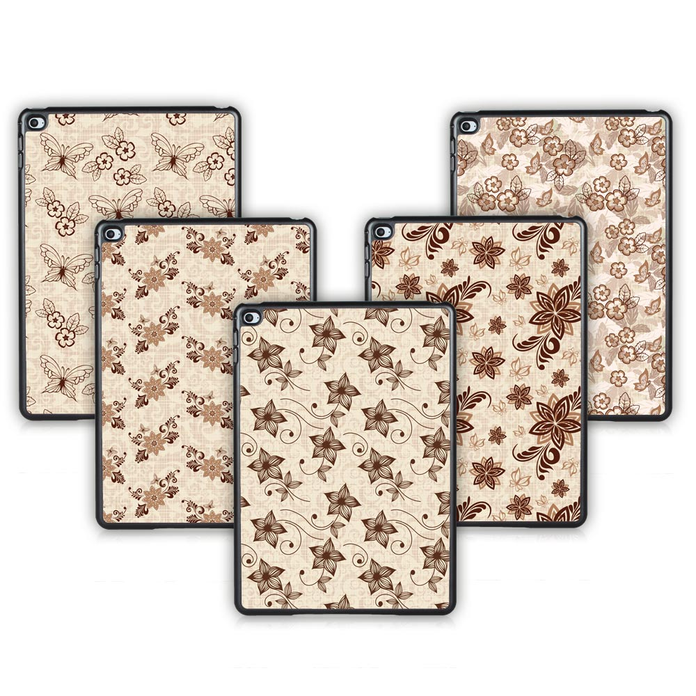 Batianda (TM) Tablet Hard Back Case For iPad Air 2 iPad 6 Case With Plastic Texture Vintage Style Figure Brown Cover