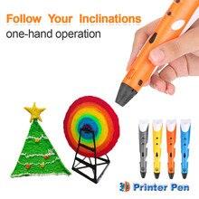 Centechia 3D Ручка DIY 3D-принтеры рисунок пером 3D печать ручки с ABS/PLA нити для детей Новогодние товары подарок на день рождения с коробкой