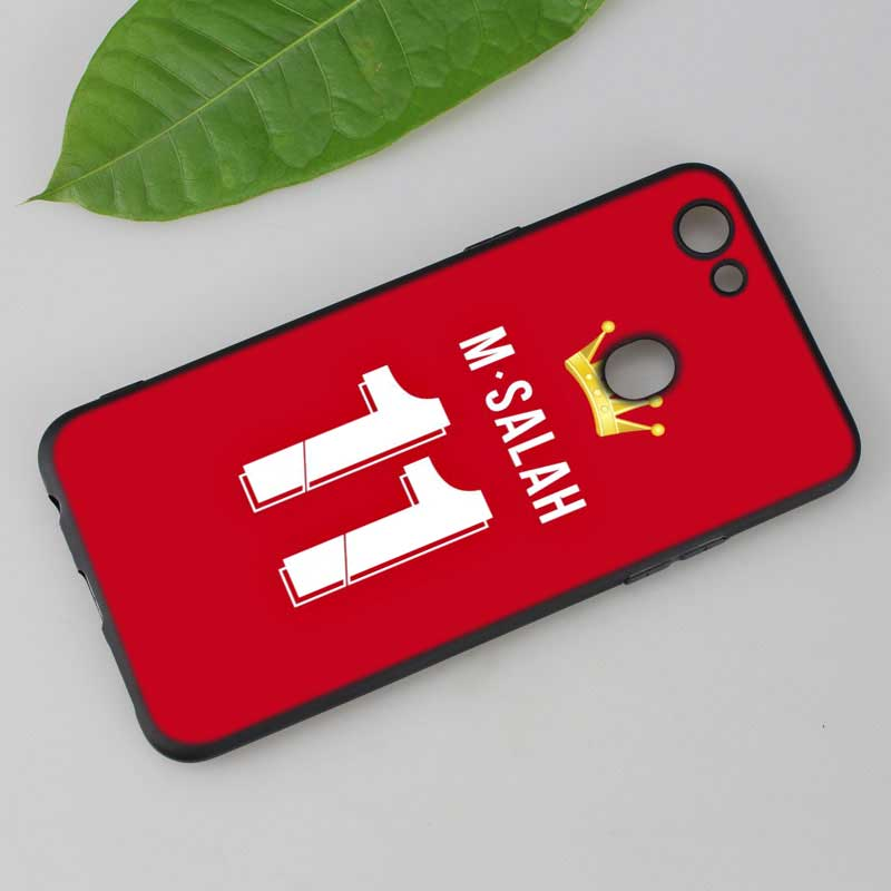 Silicone Phone Bag For OPPO F5 F7 F9 A5 A7 R9S R15 R17 Black Soft Silicone Phone Case Fashion Mohamed M Salah Style in Fitted Cases from Cellphones Telecommunications