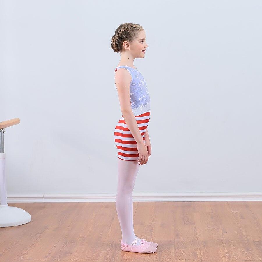 Red Stripe Practice Ballet Leotards Ballet Dance Skirt Dresses for Kids Children Training Clothes Gymnastics Leotards for Girls in Ballet from Novelty Special Use