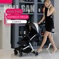 Teknum carrinho de bebê ultra-leve pode montar pode ser deitado portátil guarda-chuva dobrável mini quatro rodada do trole das crianças